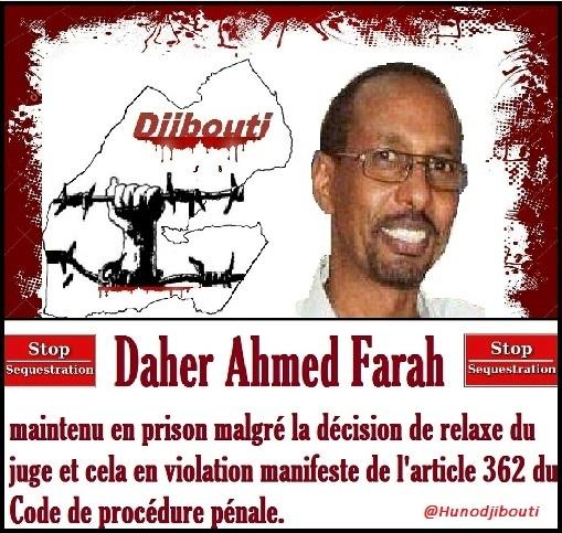 Djibouti - Daher Ahmed Farah : dirigeant politique, séquestré par le régime de Guelleh
