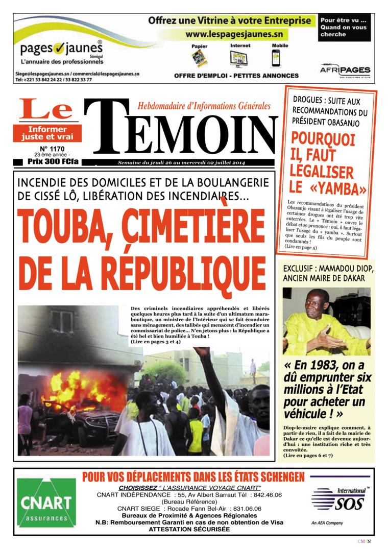 Sénégal : Touba, cimetière de la République…