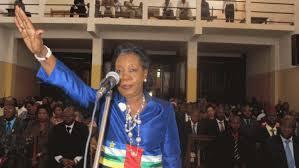 La Présidente Catherine Samba Panza lors de son investiture. Crédit photo : Sources
