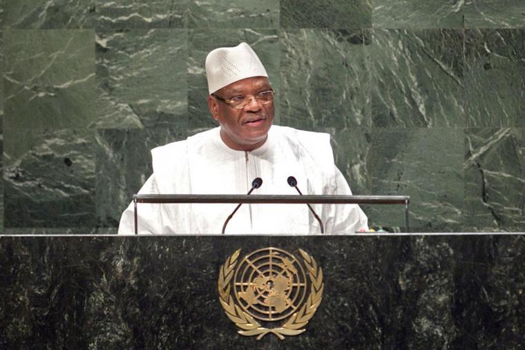 Le président du Mali, Ibrahim Boubacar Keita à la tribune de l'Assemblée générale de l'ONU. Crédit photo : Sources