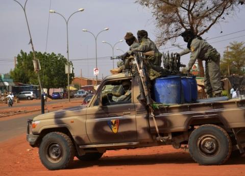 Une patrouille de soldats tchadiens à N'Djamena. Photo non datée. AFP