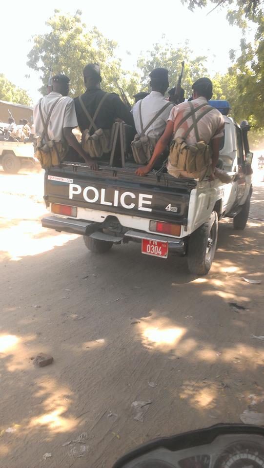 Des convois de la police suite aux manifestations à N'Djamena. Crédit photo : Alwihda Info/D.W.W