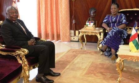 Centrafrique : Martin Ziguélé reçu par la Présidente de la Transition