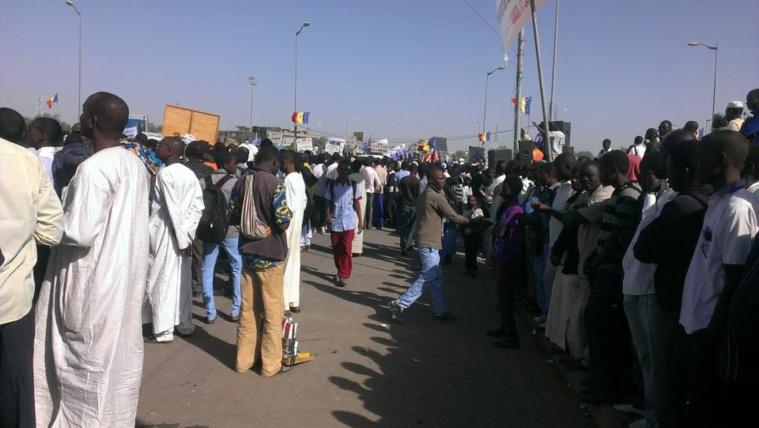 Les tchadiens descendent dans les rues pour dire non à Boko Haram. Crédit photo : Alwihda Info