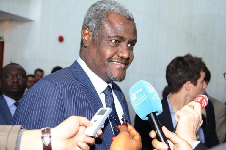 Le chef de la diplomatie tchadienne, Moussa Faki Mahamat, lors du sommet de l'Union africaine. Crédits : Union Africaine