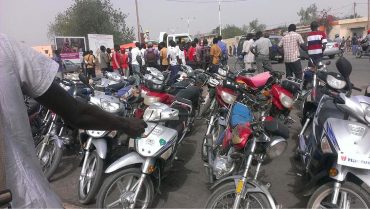 Des motos saisis par les forces de l'ordre à N'Djamena. Alwihda Info