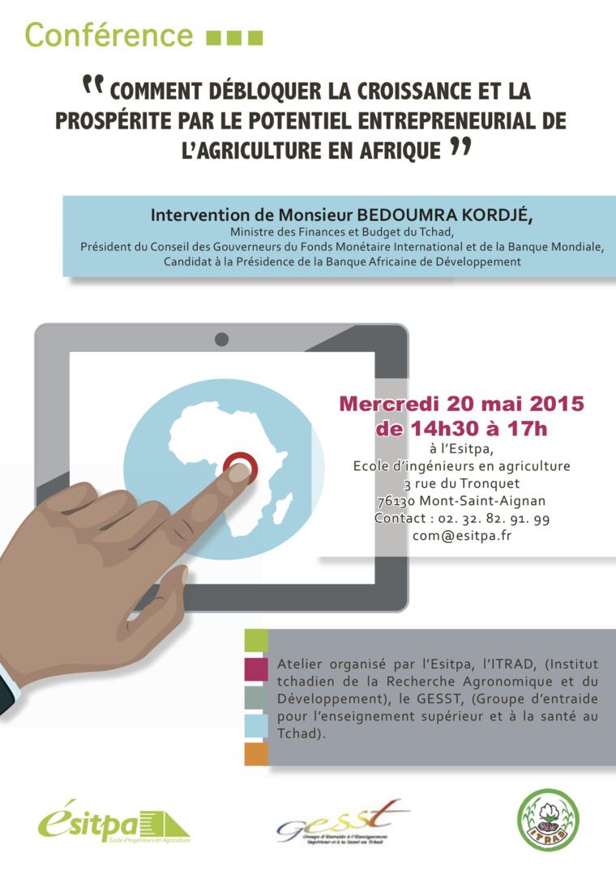 France : Intervention du ministre tchadien des finances Bedoumra Kordjé à l'ESITPA
