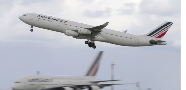 Un avion Air France menacé