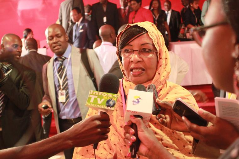 La ministre du Plan et de la Coopération Internationale, Mariam mahamat Nour. Alwihda Info/D.W.W.