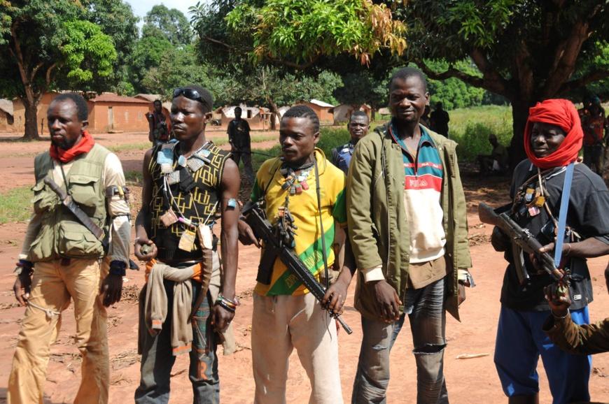 Des miliciens Anti-Balaka en Centrafrique. photo non datée. Crédits : Sources