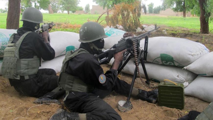 Des militaires camerounais au front à l'Extrême Nord du pays.