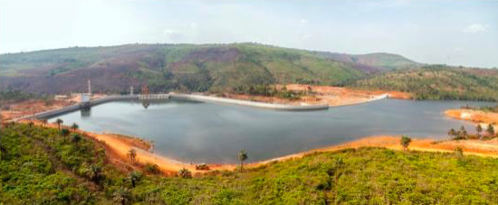 the Guinea Kaleta hydropower station