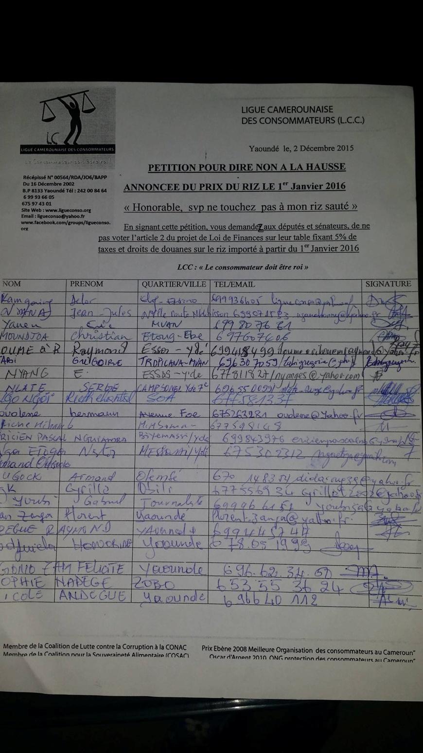 Déjà,plus d'un millier de signataires de la pétition à l'assaut de l'hémicycle dès lundi