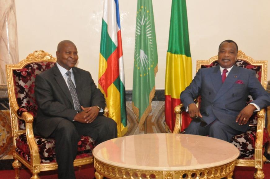Les présidents Touadera et Sassou N'Guesso