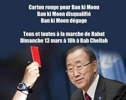 Plusieurs millions de Marocains mettent à l'index Ban Ki Moon