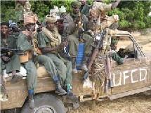 Véhicule militaire de l'UFCD en patrouille