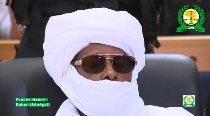 Capture d'écran Rts. Hissein Habré ce lundi 30 mai lors du verdict de son procès.
