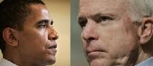 Barack Obama à gauche et John McCain