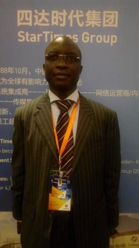 Chine-Developpement numerique: le Ministre centrafricain de la communication plaide pour s s