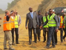 Désengorgement de Brazzaville : le chantier de la corniche case De Gaulle-pont du Djoué réalisé déjà à 40%