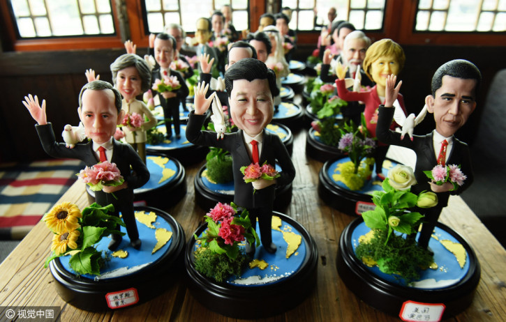 Hangzhou artist creates dough figurines of G20 leaders to symbolize wish for world peace