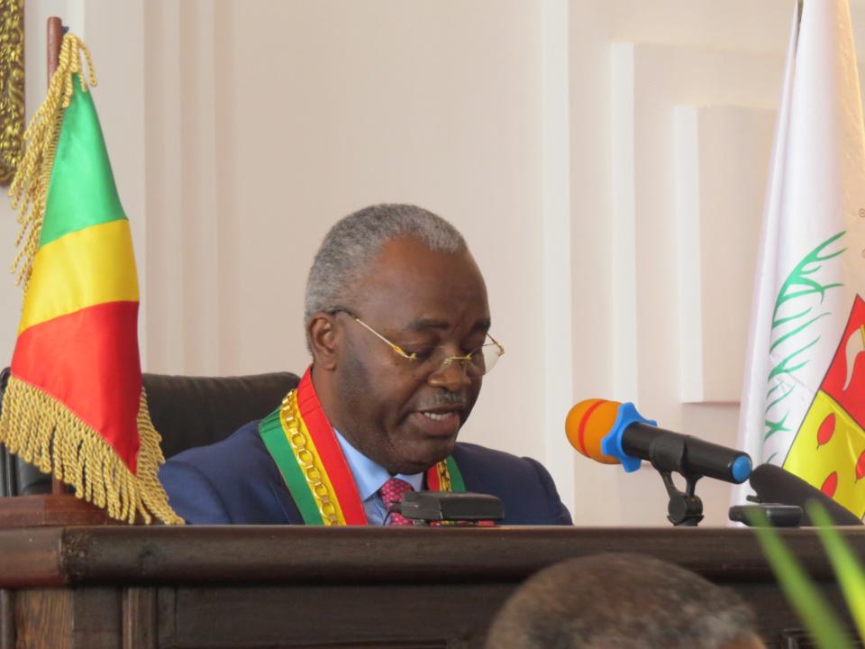 Le président du conseil départemental et municipal de Brazzaville, Hugues Ngouélondélé
