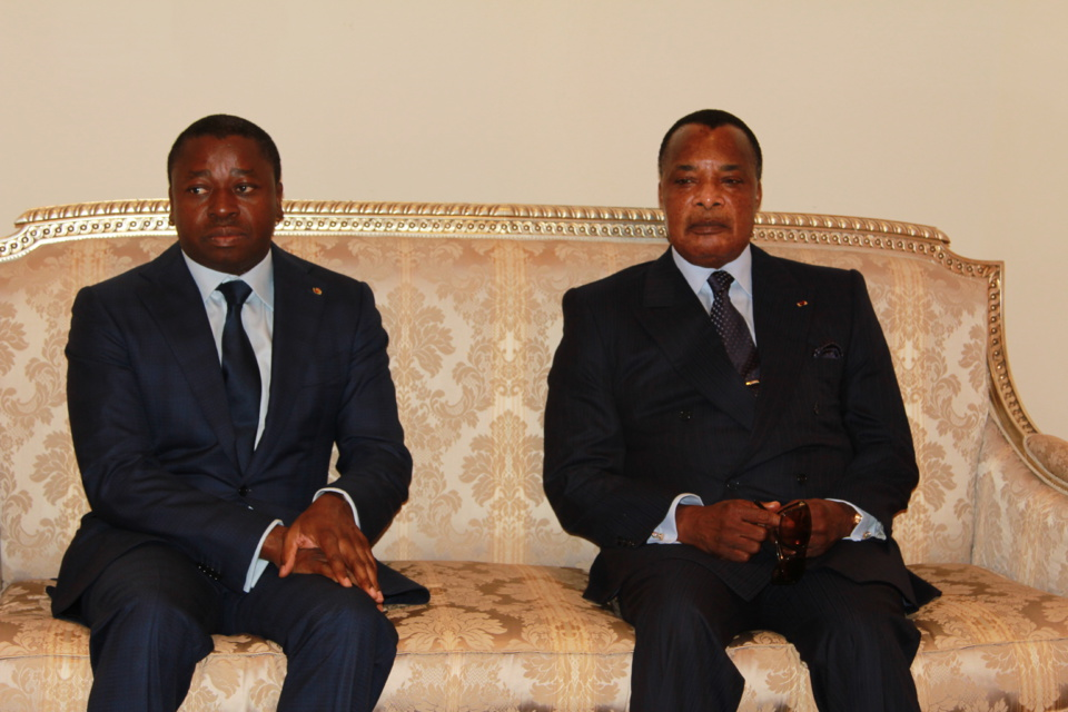 Coopération Congo-Togo Faure Gnassingbé, hôte de Denis Sassou N'Guesso à Oyo