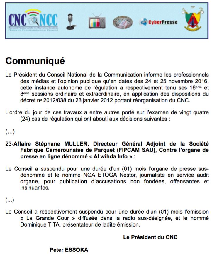 Cameroun : Alwihda Info dénonce la censure de la presse par les autorités