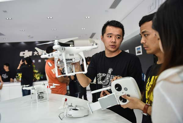Leading drone maker DJI expects 2016 global sales to top 10 billion RMB