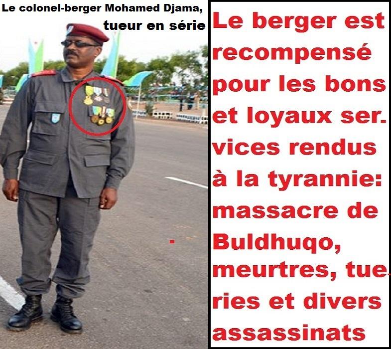 Djibouti: Le colonel-berger Mohamed Djama (patron de la garde dite républicaine), tueur en série du régime de Guelleh