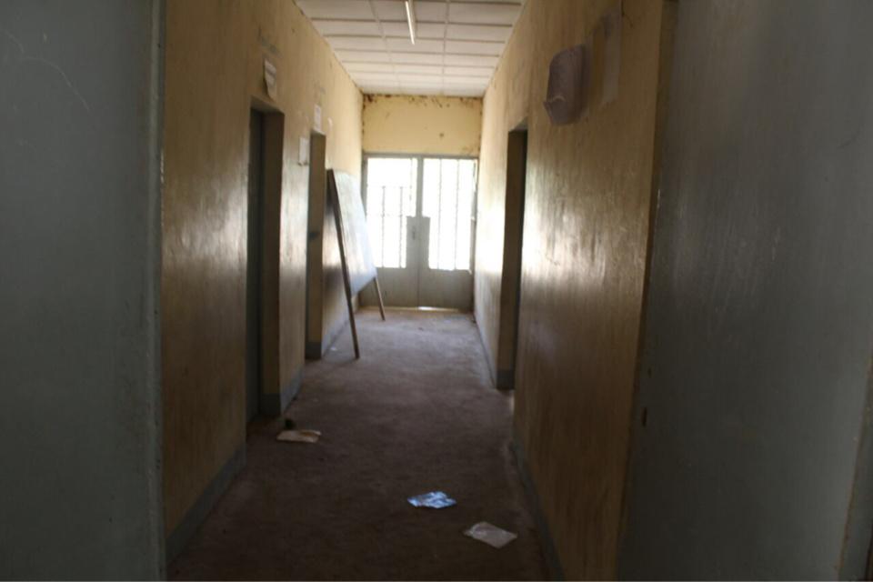 Un couloir du lycée de Walia aujourd'hui. Alwihda Info/D.W.
