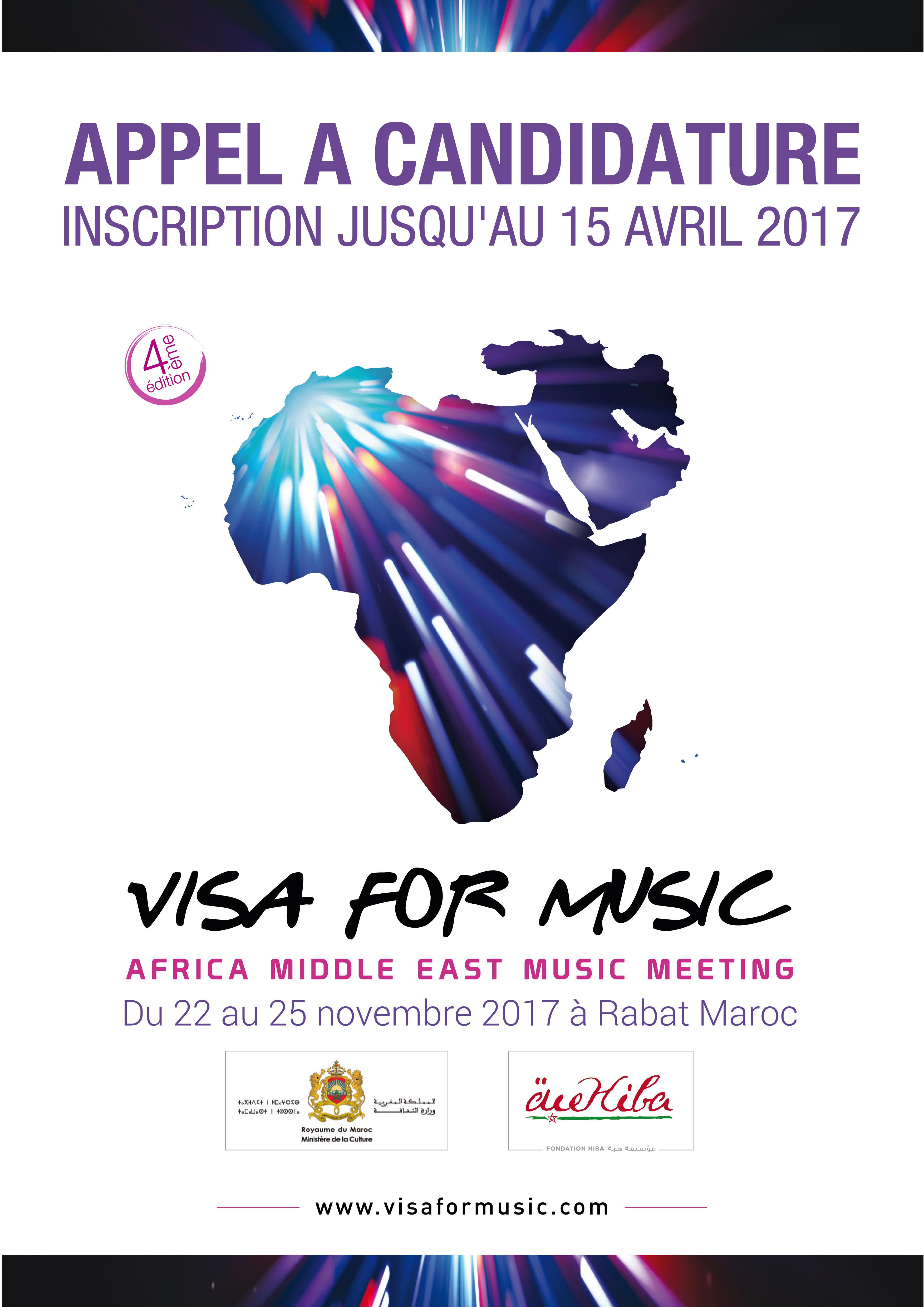 Lancement de l'appel à candidatures Visa for Music 2017 !