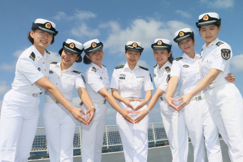 Feature: Female sailors on escort mission in Gulf of Aden