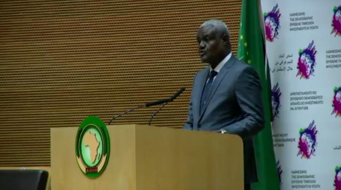 Le Président de la commission de l'Union Africaine, Moussa Faki.