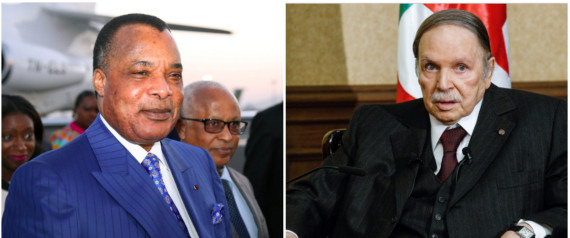 Sassou et Bouteflika (photo Huftpost Algérie)