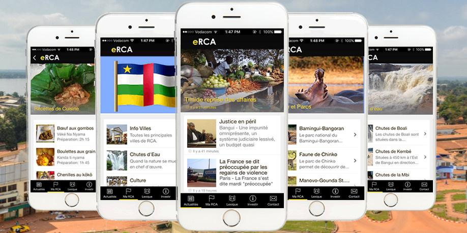 eRCA : enfin une application mobile 100% dédiée à la République Centrafricaine.