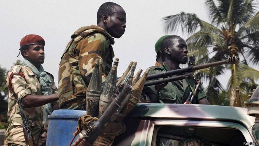 Des combattants en Centrafrique. Crédits : Sources