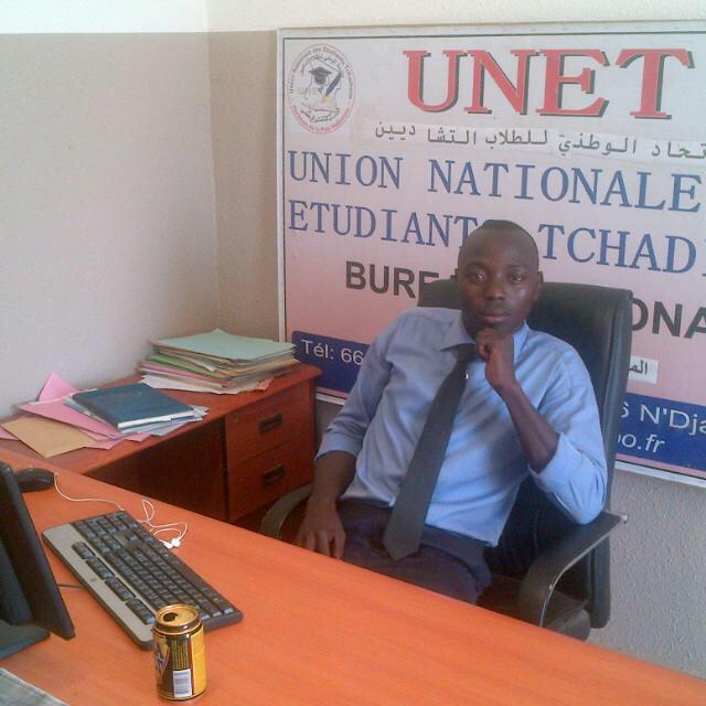 Le Président national du bureau de l'UNET, Richard Guelem. Alwihda Info