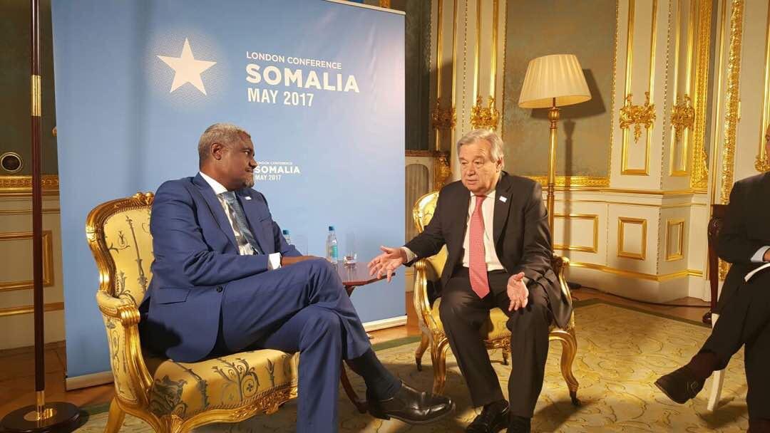 Consultations de haut niveau de Moussa Faki en marge de la Conférence de Londres sur la Somalie.