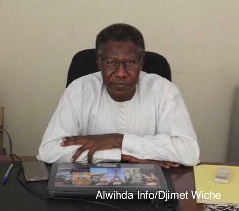 Le secrétaire général de la CTDDH (Convention Tchadienne pour la Défense des Droits de l'Homme), Mahamat Nour Ahmed Ibedou. Alwihda Info/D.W.