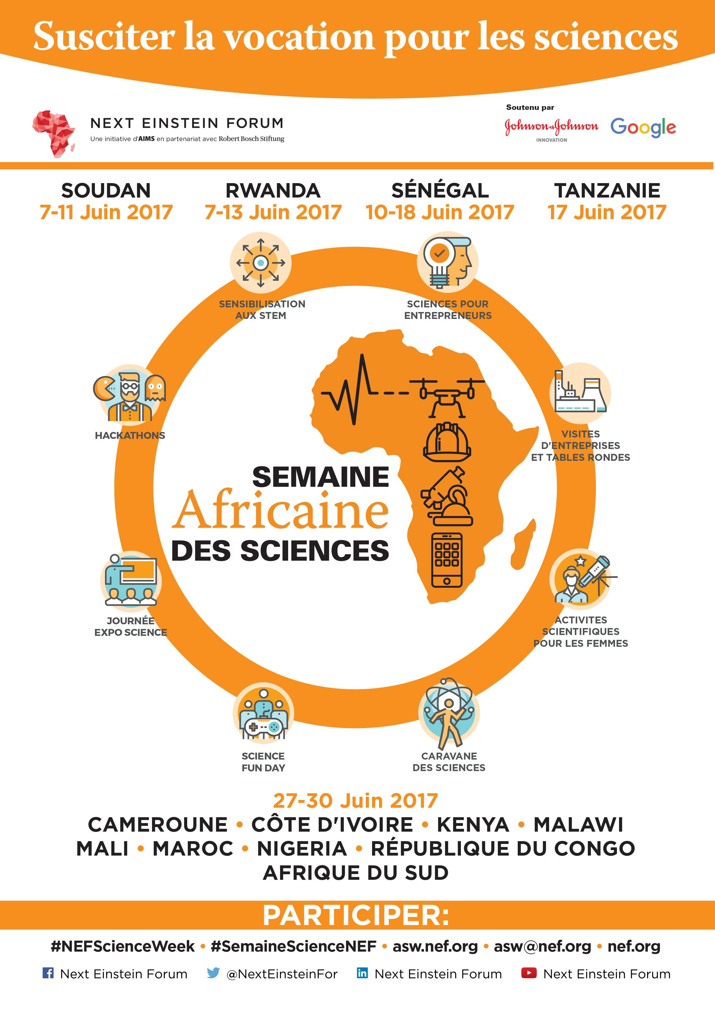 Le Next Einstein Forum lance la toute première Semaine Africaine des Sciences