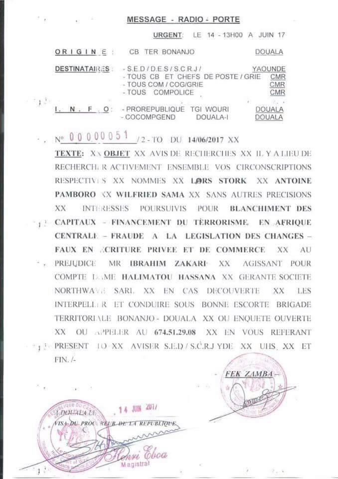 Avis de recherche contre le Dg et le Daf de Vodafone Cameroon