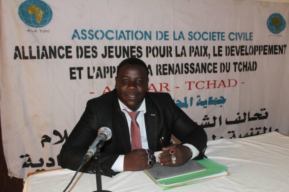 Le président de l'Association des Jeunes pour la Paix et l'Appui à la Renaissance du Tchad du Tchad (AJPDAR-TCHAD), Mahamat El-Mahadi Abdramane. Alwihda Info