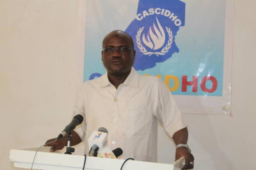 Le coordonnateur national de la Coordination des Associations de la Société Civile et de Défense des Droits de l'Homme (CASCIDHO), Mahamat Digadimbaye. Alwihda Info