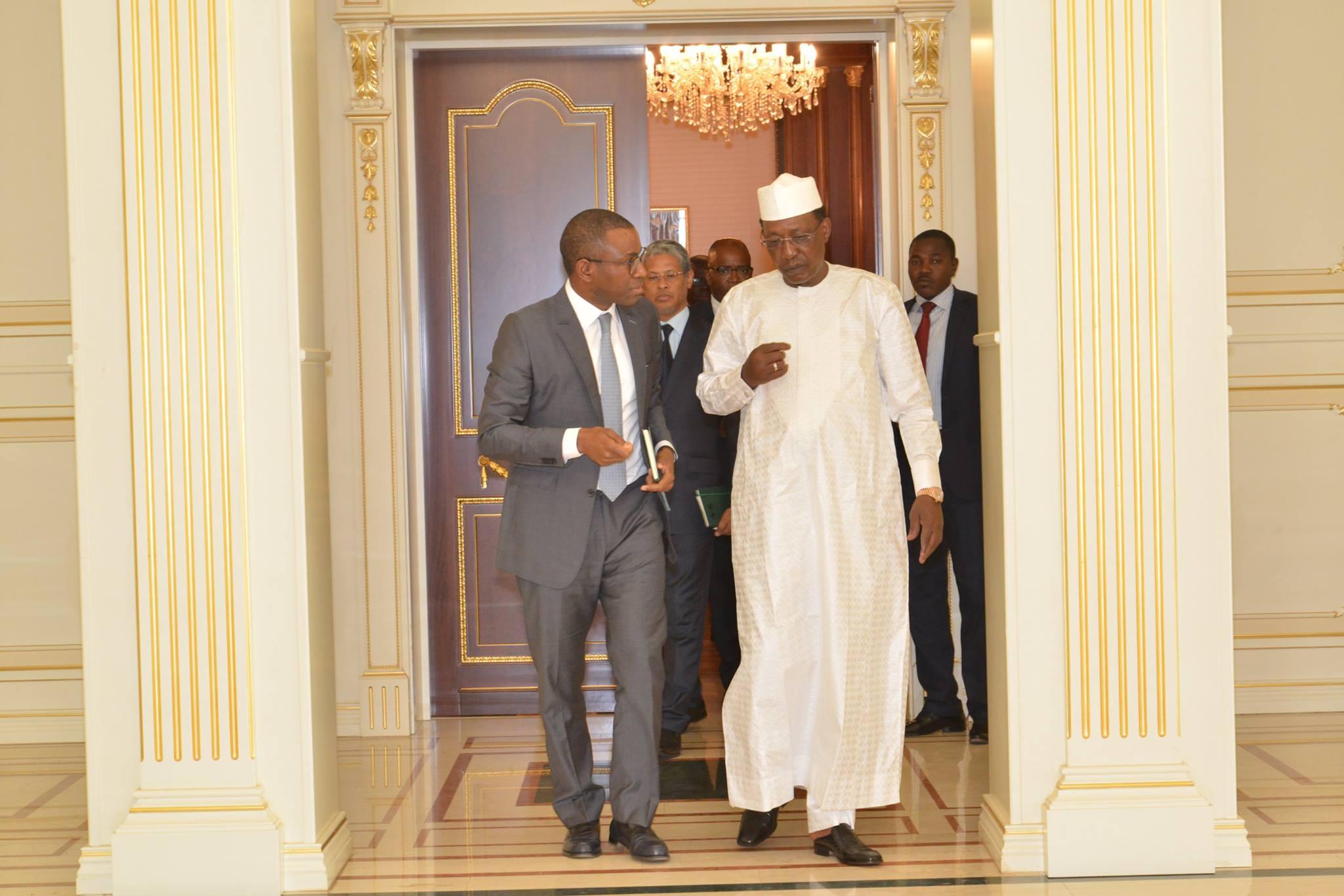 Le Président tchadien a accordé aujourd'hui une audience au vice-président du groupe de la Banque africaine de développement (BAD), M. Amadou Hott.