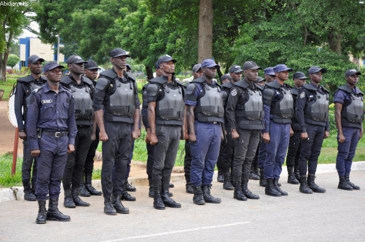 Des agents des forces de l'ordre à Abidjan. Crédits : Abidjan.net