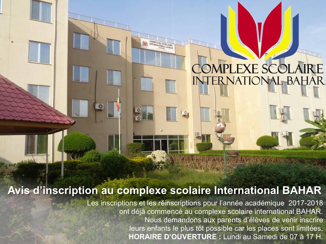 Tchad : Les inscriptions ouvertes au complexe scolaire international Bahar