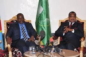Les présidents Kabila et Sassou (Photo d'archives)
