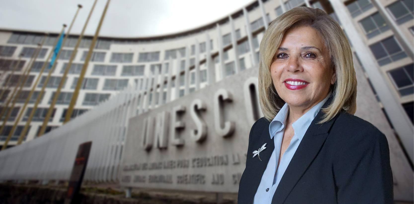 Interview de Moushira Khattab, candidate au poste de Directeur Général de l'UNESCO.