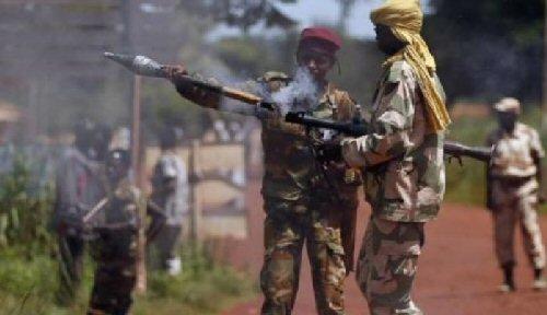 Des combattants armés en Centrafrique. crédits photo : sources